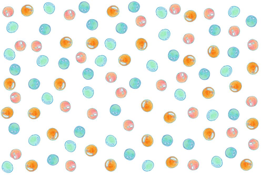 シャボン玉のイラストパターン