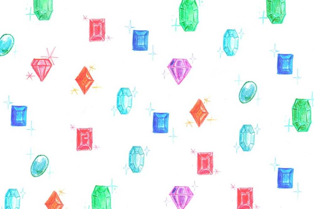 宝石のパターン